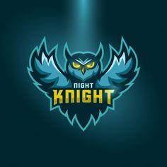 Logo Desing, Game Logo Design, Logo Design Services, Football Logo Design, Mascot Design, Buho Logo, Night Knight, Owl Logo, Esports Logo