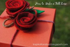 Inspirations by D: How to Make Felt Flowers (Part 1 Felt Rose)