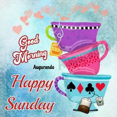 Best Good Morning Sunday Images! Always Updated Images! Good Morning Sunday Images, G Morning, Happy Sunday Quotes, Morning Greetings Quotes, Rainy Sunday, First Love, Encouragement, Fun, Friends