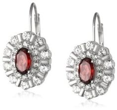 Sterling Silver Created White Sapphire Oval Lever Back Earrings Available at joyfulcrown.com