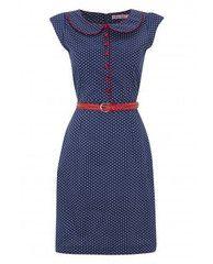 Collar Dress- Blue