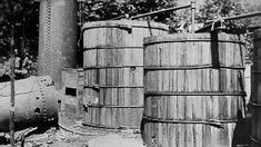 The Blue Blazes whiskey still at Catoctin Mountain, Maryland, was a large commercial operation. More than gallons of mash were found in 13 vats when the operation was raided in July Moon Shine, Survival Skills, Survival Stuff, Whiskey Still, Blue Blaze, Copper Still, Moonshine Still, Mountain Dew, Thats The Way