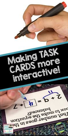 Making Task Cards More Interactive..tips and tricks to get even more out of the task cards you use with your students!