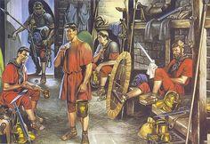 """""""Legionarios en el barracón"""", Ronald Embleton. """""""