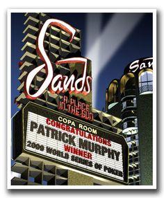 Personalized Sands Hotel Night Las Vegas.