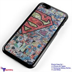 superman comic art - Personalized iPhone 7 Case, iPhone 6/6S Plus, 5 5S SE, 7S Plus, Samsung Galaxy S5 S6 S7 S8 Case, and Other