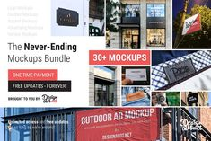 The Never-Ending Mockups Bundle by Design a Lot on @creativemarket Advertising, Ads, Mockup, Identity Design, Design Bundles, Branding, Graphic Design, Templates, Photoshop Photography