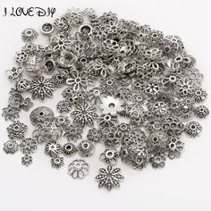 ►Material: Tibetan Silver (lead free,nickel free) ►Size: 4mm-15mm,hole about 1.2mm-2.2mm ►Condition: 100% Brand New ►Quantity: 150 pcs/lot ►Color: Silver or Gold Green Conversion: 1mm=0.0394 inch, 1 inch=25.4mm ►Use For: Bracelets, Earring Jewelry Making  Please refer to shop policy section for shipping information.  Conv. me if special quantity required.  Please check your address carefully before submit your order!  We are proud of providing beautiful items to our customers a...