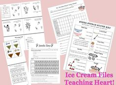 Icecream ideas.  Perfect for the End of the Year!  Teaching Heart Ice Cream Theme Unit - Printables Lessons Ideas