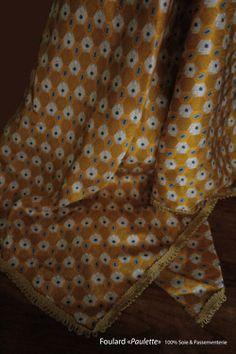 """""""Paulette"""" 100% Silk  Création artistique """"Afleurdorgies"""" & """"Collection au carré"""" by EMILIE CHANTELOUP www.afleurdorgies..."""