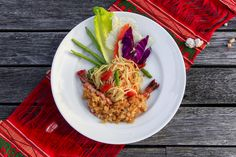 Som Tam Thai with Crispy Fried Prawns | one of 7 new Som Tam dishes at offer at Benjarong.  #Benjarong #DusitThani #Dusit #DusitThaniMV #maldives #thai #food #somtam #yummy #authentic