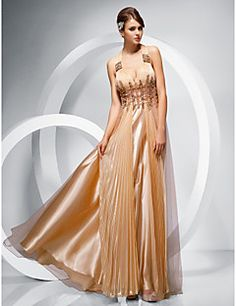 Sheath/Column Straps Floor-length Chiffon Tulle Evening/Prom... – USD $ 179.99