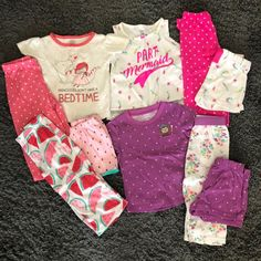 Baby Girl pjs on Mercari Pjs, Pajamas, Mermaid Princess, Beautiful Babies, Bedtime, Girl Outfits, One Piece, 18 Months, Baby Girls
