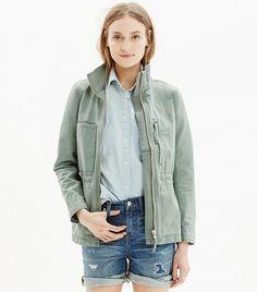 Madewell Fleet Jacket // Military green jacket