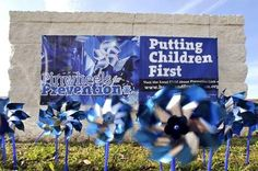 2014 - 400 Pinwheels Mark Child Abuse Prevention Month | TheLedger.com  In recognition of National Child Abuse Prevention Month, 400 pinwheels are spinning outside city buildings and inside offices. Judi Gladue, police administrative assistance, said she hopes to get 200 more before the end of April.