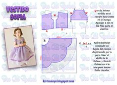 Baby Dress Patterns, Sewing Patterns For Kids, Doll Clothes Patterns, Sewing For Kids, Baby Sewing, Clothing Patterns, Kids Frocks, Diy Dress, Little Girl Dresses