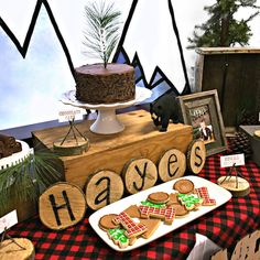 """Lumberjack themed 1st birthday party """"You'll Move Mountains"""" designed by Bella Bliss Events"""