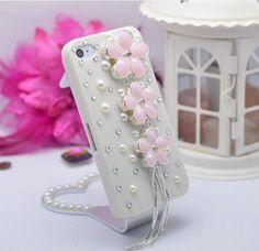 3D Bling Crystal Glitter Rhinestone Pink Flower Case for Apple iPhone 4 4S by SKYTECH, http://www.amazon.co.uk/dp/B00DFJRHJ0/ref=cm_sw_r_pi_dp_MXdbsb0GVW1B7