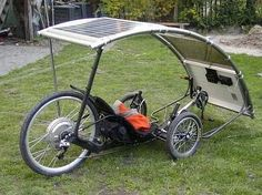 Solar powered recumbent
