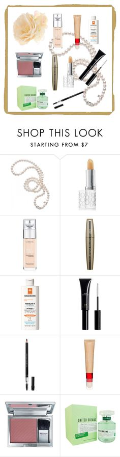"""""""My makeup bag essentials"""" by stylishandcomfortable ❤ liked on Polyvore featuring beauty, Mikimoto, Elizabeth Arden, L'Oréal Paris, La Roche-Posay, Christian Dior, Revlon, BeYu, Benetton and Accessorize"""