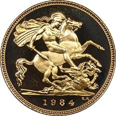 Need This! 1984 Great Britain Half Sovereign Gold Coin