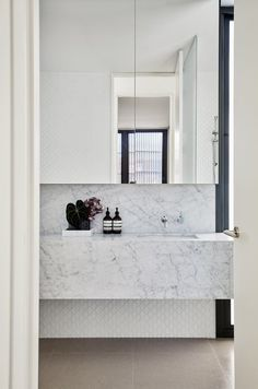Queens Park - Local Bathroom Sink Design - Madeleine Blanchfield Architects - Interior Archive 13 - The Local Project Marble Bathroom, Bathroom Decor, House Bathroom, Interior, Beautiful Bathrooms, House, Bathroom Interior Design, Home Decor, House Interior