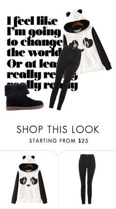 """Teddy Bear"" by nathalie-saki on Polyvore featuring WithChic, Topshop and Clarks"