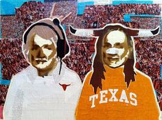 WILLIE AS MACK BROWN & BEVO -- 16 X 24in -- Mixed Media on Board -- CONTACT: annegenung@gmail.com