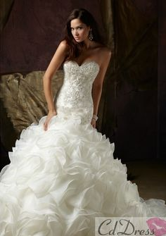 Cheap dress Buy Quality dresses formal gowns directly from China dress up wedding gowns Suppliers: QQ Lover 2017 Elegant Sweetheart Beaded Organza Chapel Mermaid Wedding Dress Wedding Gown Custom-made Vestido de noiva Dresses Chapel Wedding Dresses, Wedding Dress Organza, White Wedding Dresses, Wedding Party Dresses, Bridal Dresses, Bridesmaid Dresses, Dress Party, Gown Wedding, Organza Bridal
