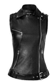 leather biker vest,