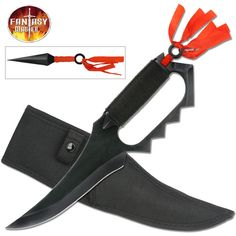 @ShopAndThinkBig.com - Our Fantasy Master fixed blade knives with additional throwing knives makes a great gift for knife enthusiasts. http://www.shopandthinkbig.com/fixed-blade-knife-with-throwers-fantasy-master-p-1102.html