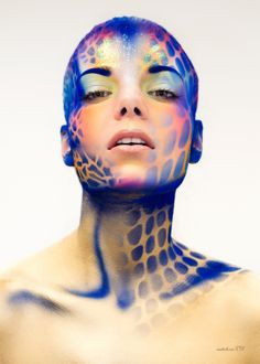 #Bleu #Blue | ► Blue fantaisy [photographie d'art Antonio Lozano | mise en beauté maquillage Graftobian]