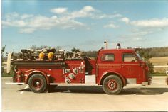 1949 American LaFrance fire engine 1st one purchased after the construction shop fire. (Roger Johnson)