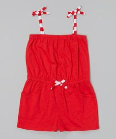 Another great find on #zulily! Red Cover-Up Romper - Girls by Jantzen #zulilyfinds