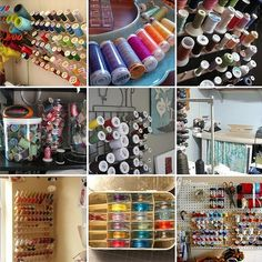 Different ways to store ribbons and spool of threads!