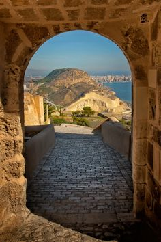 Santa Barbara castle, Alicante, Spain .