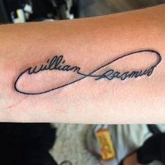 Kids names tattoo