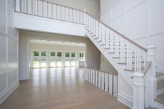 32 Wainscott Hollow Rd, Tao Builders Stairways, Tao, The Hamptons, Entrance, Beach House, New Homes, Woodworking, Home Decor, Stairs