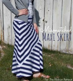Mismatched Maxi Skirt - The Ribbon Retreat Blog - BEST IDEA  FOR A PATTERN I'VE EVER SEEN!!!!