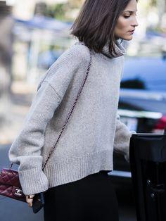 that knit is beautiful. #MariaDuenasJacobs in Paris.