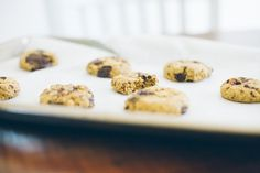 A recipe for chickpea chocolate chip cookies, inspired by a visit to the local Indian grocery store. Gluten-free. High protein.