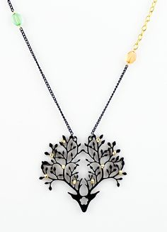 Black+Gold+Branches+Chain+Necklace+US$6.85