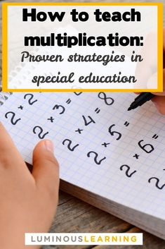 proven strategies for teaching multiplication to struggling learners in the special education classroom.Learn proven strategies for teaching multiplication to struggling learners in the special education classroom. Teaching Multiplication Facts, Math Facts, Teaching Math, Multiplication Strategies, Teaching Colors, Multiplication Table For Kids, Primary Teaching, Multiplication For Kids, Special Education Classroom