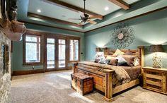 Indian Lakes, Mountain Lodge Style - rustic - bedroom - houston - Ellis Custom Homes LLC