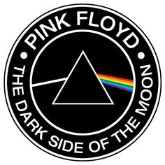 Pink Floyd- The Dark Side Of The Moon sticker (a Sweet little Place Where I Love to Party) Pink Floyd Logo, Arte Pink Floyd, Pink Floyd Band, Pink Floyd Poster, Pink Floyd Dark Side, Rock Posters, Band Posters, Rock Logos, Imagenes Pink Floyd