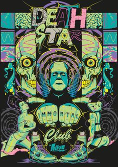 DEATHSTARR IMMORTALCLUB T-Shirt and Poster Package on Behance