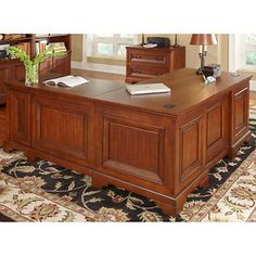 Ryland Desk with Return and Lateral File