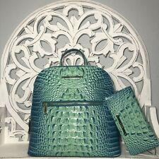 Brahmin Felicity Backpack BLISS and Ady Wallet SET Aqua Blue, Blue Green, Brahmin Handbags, Gold Number, Leather Backpack, Fashion Backpack, Bliss, Backpacks, Wallet
