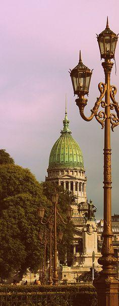 Vintage photo.- Congreso de la Nacion -Buenos Aires, ARGENTINA
