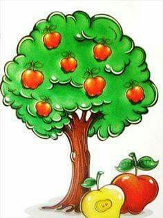Diy And Crafts, Crafts For Kids, Paper Crafts, Apple Background, The Giving Tree, Autumn Activities For Kids, Parts Of A Plant, Farm Theme, School Events